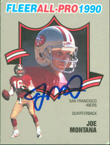 49ers Joe Montana Authentic Signed 1990 Fleer All-Pro #1 Card BAS #BB84994