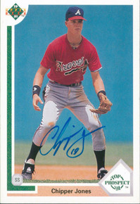 Braves Chipper Jones Authentic Signed 1991 Upper Deck #55 Rookie Card BAS