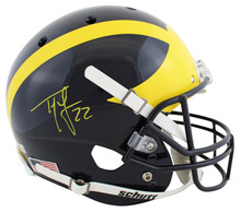 Michigan Ty Law Authentic Signed Schutt Full Size Rep Helmet BAS Wit #WK12111