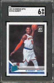 Knicks R.J. Barrett 2019 Donruss Optic #178 Rookie Card Graded EX-NM 6 SGC