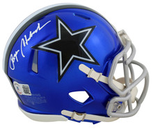 Cowboys Roger Staubach Authentic Signed Flash Speed Mini Helmet BAS Witnessed