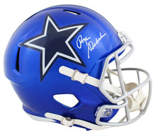 Cowboys Roger Staubach Signed Flash Full Size Speed Rep Helmet BAS Witnessed