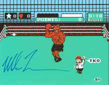 Mike Tyson Authentic Signed 11x14 Punch Out Photo Autographed BAS #Q80347