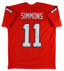 Clemson Isaiah Simmons Authentic Signed Orange Pro Style Jersey JSA Witness