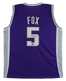 De'Aaron Fox Authentic Signed Purple Pro Style Jersey Autographed BAS Witnessed