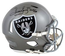 "Raiders Howie Long ""HOF 00"" Signed Flash Full Size Speed Proline Helmet BAS Wit"