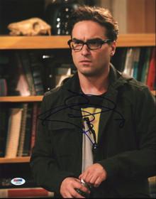 Johnny Galecki The Big Bang Theory Authentic Signed 11x14 Photo PSA/DNA #U59308