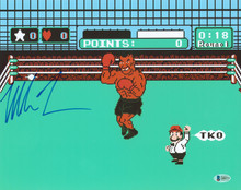 Mike Tyson Authentic Signed 11x14 Punch Out Photo Autographed BAS #Q80371