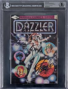 (4) Stan Lee, Romita, Defalco & Simonson Signed Dazzler #1 Comic BAS Slabbed