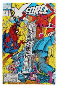 (3) Stan Lee, Liefeld &  Nicieza Authentic Signed X-Force #4 Comic JSA #XX05172