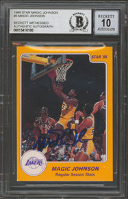Lakers Magic Johnson Authentic Signed 1986 Star MJ #3 Card Auto 10! BAS Slabbed