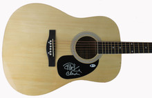 Cheech Marin & Tommy Chong Authentic Signed Acoustic Guitar BAS #C58046