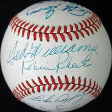 HOFers (5) Ted Williams, Whitey Ford +3 Signed Onl Baseball PSA/DNA #W00399