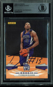 Kings Tyreke Evans Authentic Signed Card 2009 Panini RC #354 BAS Slabbed