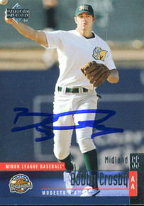 A's Bobby Crosby Authentic Signed Card 2002 Upper Deck Minor League #14 w/ COA