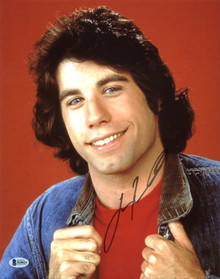 John Travolta Welcome Back, Kotter Authentic Signed 11X14 Photo BAS #B38824
