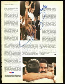 Alexis Arguello Authentic Signed Boxing Magazine Page Photo PSA/DNA #AB81634