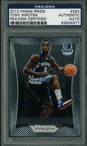 Grizzlies Tony Wroten Signed Card 2012 Panini Prizm Rc #262 PSA/DNA Slabbed