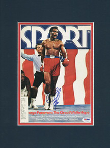 George Foreman Boxing Authentic Signed & Matted Magazine Cover PSA/DNA #T71495