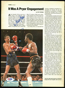 Alexis Arguello Authentic Signed Boxing Magazine Page Photo PSA/DNA #AB81639