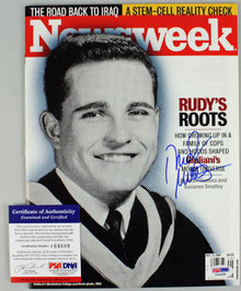 Rudy Giuliani Authentic Signed 2007 Newsweek Magazine PSA/DNA #I64608