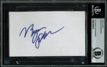 Morgan Spurlock Super Size Me Authentic Signed 3x5 Index Card BAS Slabbed