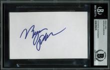 Morgan Spurlock Super Size Me Authentic Signed 3x5 Index Card BAS Slabbed