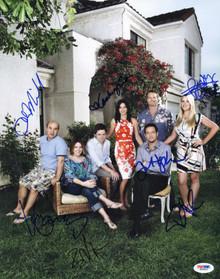 Cougar Town Cast (7) Courteney Cox Signed Authentic 11X14 Photo PSA/DNA #P00452