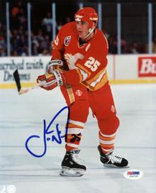 Flames Joe Nieuwendyk Signed Authentic 8X10 Photo Autographed PSA/DNA #U25725