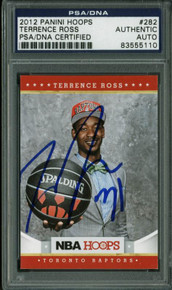 Raptors Terrence Ross Authentic Signed Card 2012 Panini Rc #282 PSA/DNA Slabbed