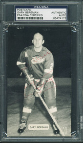 Red Wings Gary Bergman Authentic Signed 3.25X5.5 Postcard PSA/DNA Slabbed