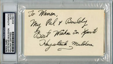 Haystacks Muldoon Wrestler Authentic Signed 3X5 Index Card PSA Slabbed #83276017