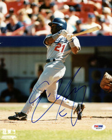 Dodgers Eric Young Signed Authentic 8X10 Photo Autographed PSA/DNA #W83905
