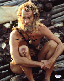 Tom Hanks Cast Away Authentic Signed 11X14 Photo Autographed PSA/DNA #X44304