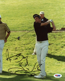 Jesper Parnevik Golf Signed Authentic 8X10 Photo Autographed PSA/DNA #M42470