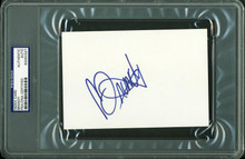 Brandy Authentic Signed 4X6 Index Card Autographed PSA/DNA Slabbed