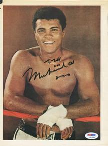 Muhammad Ali Boxing Authentic Signed 8X11 Magazine Page Photo PSA/DNA #G61386
