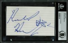 Pistons Richard Hamilton Authentic Signed 3x5 Index Card BAS Slabbed #9885125