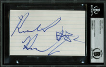 Pistons Richard Hamilton Authentic Signed 3x5 Index Card BAS Slabbed #9885125