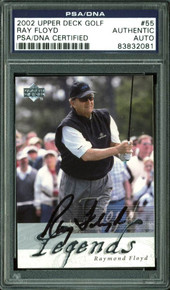 Ray Floyd Authentic Signed Card 2002 Upper Deck Golf #55 PSA/DNA Slabbed