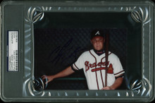 Braves Chipper Jones Authentic Signed 4x6 Autographed PSA/DNA Slabbed