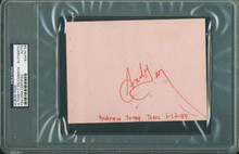 76Ers Andrew Toney Signed 4.25X5.75 Album Page Autographed PSA/DNA Slabbed