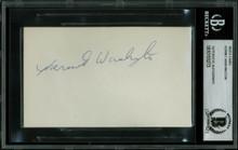 Lakers Kermit Washington Authentic Signed 3x5 Index Card Autographed BAS Slabbed