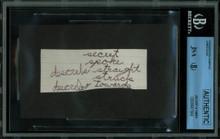 James Dean 1.5x3.5 Handwriting Sample from 5th Grade Notebook JSA Slab #8947584