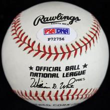 Dodgers Gene Hermanski Signed Authentic OML Baseball PSA/DNA #P72756