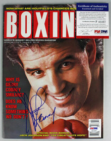 Gerry Cooney Authentic Signed 1990 Boxing Illustrated Magazine PSA/DNA #P43357
