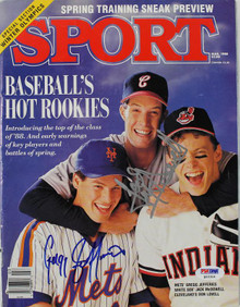 Gregg Jefferies & Jack Mcdowell Authentic Signed 1988 Sport Magazine PSA #Q12314