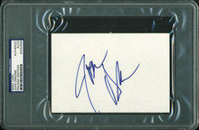 Joan Osborne Authentic Signed 4X6 Index Card Autographed PSA/DNA Slabbed