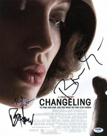 Changeling Cast (3) Ron Howard, Grazer & Lindhome Signed 11X14 Photo PSA #V10795