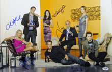Cougar Town (Courtney Cox, Busy Philipps, +4) Signed 12x18 PSA/DNA #AB10812